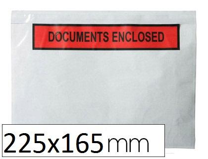 POCHETTES DOCUMENTS ENCLOSED 225X165MM
