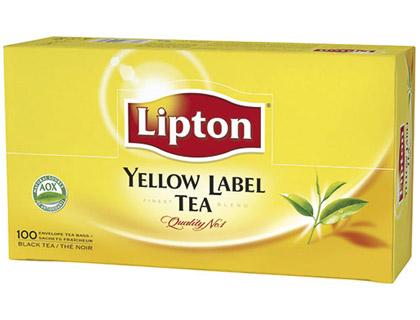 LIPTON YELLOW THÉ 100 SACHETS