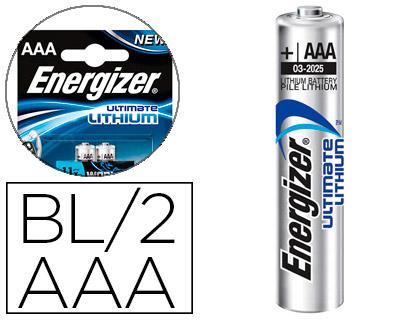 ENERGIZER PILES LITHIUM ULTIMATE AAA/LR03 PACK DE 2
