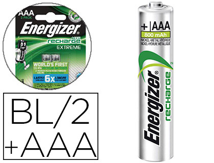 ENERGIZER PILES RECHARGEABLES EXTREME AAA/LR03 PACK DE 2