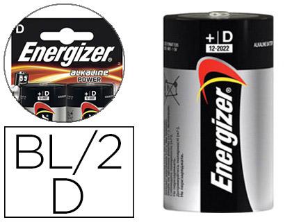 ENERGIZER PILE ALKALINE POWER LR20 D PACK DE 2
