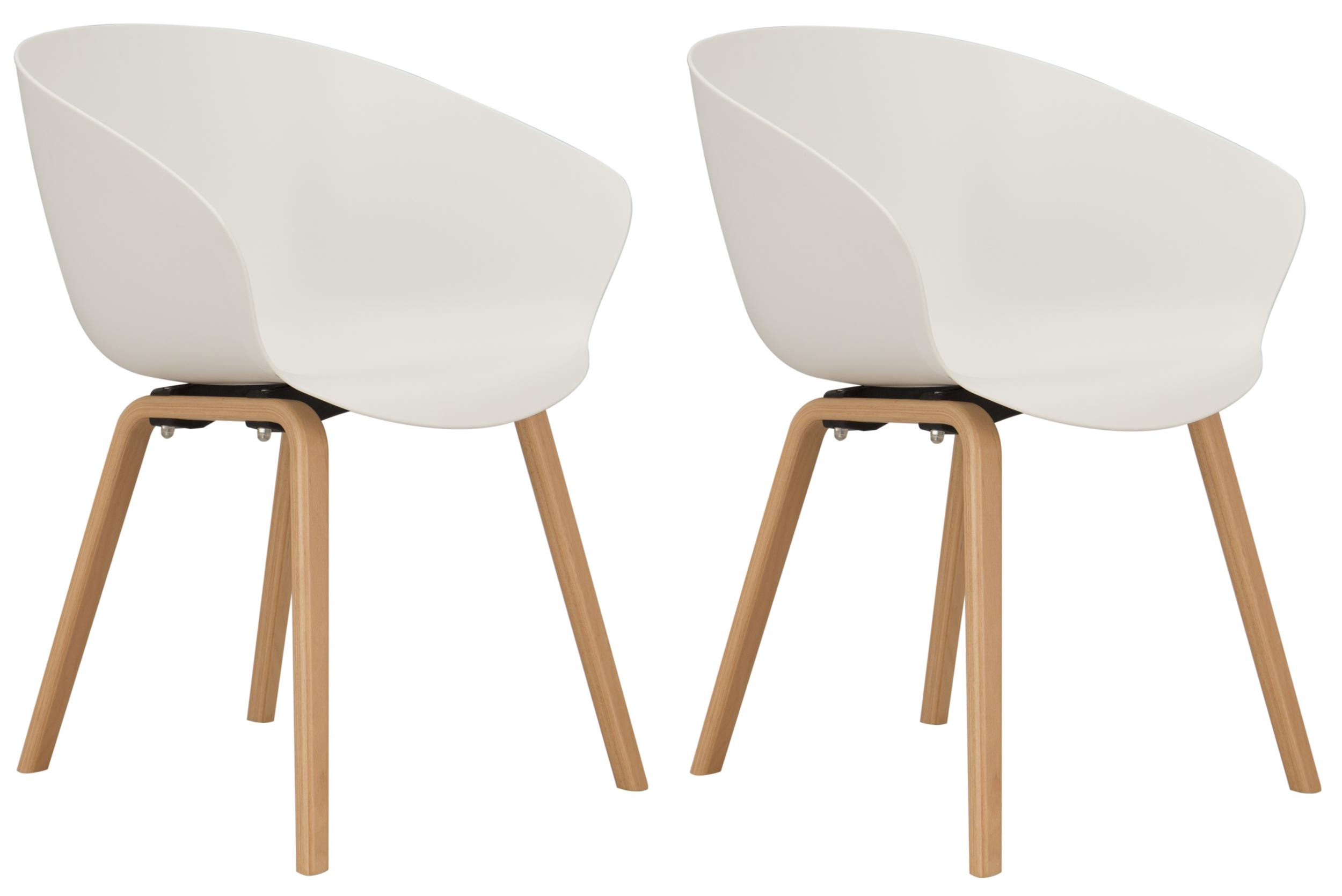Arum blanc hÊtre lot de 2 fauteuils & chaises chaises buroweb.fr