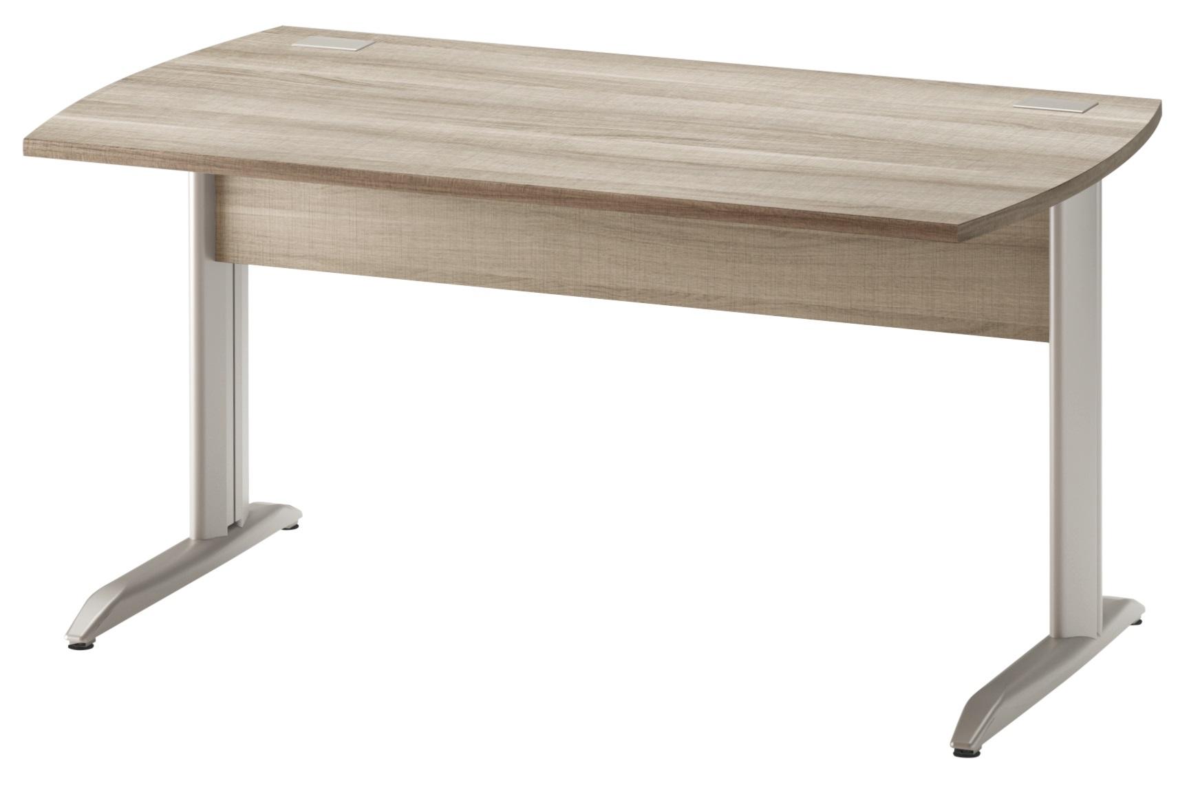 jazz ch ne gris pieds m tal bureau 140cm mobilier par famille jazz ch ne gris. Black Bedroom Furniture Sets. Home Design Ideas