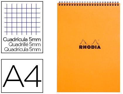 BLOC CLASSIC ORANGE A4 RÉGLURE 5x5