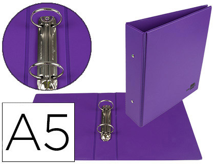 PVC A5 2 ANNEAUX 40MM VIOLET