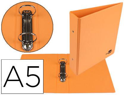 PVC A5 2 ANNEAUX 40MM ORANGE