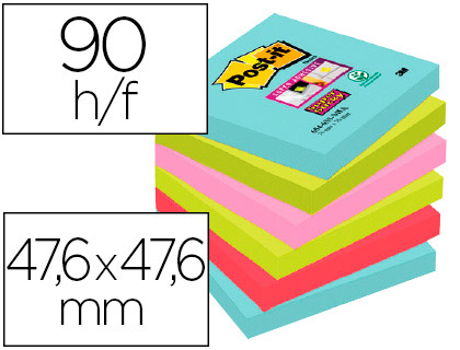 SUPER STICKY MIAMI 12 BLOCS 47,6X47,6MM