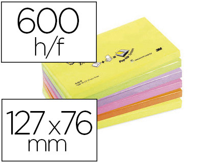 Z-NOTES NÉON 76X127MM PACK DE 6