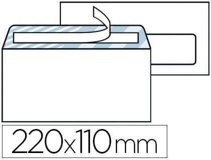 500 ENVELOPPES DL 80g ADHÉSIVES AVEC FENÊTRE 35x100cm