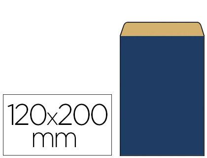 POCHETTE KRAFT BLEU 12X4.5X20CM
