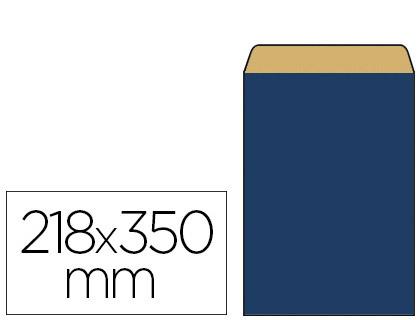 POCHETTE KRAFT BLEU 18X6X35CM