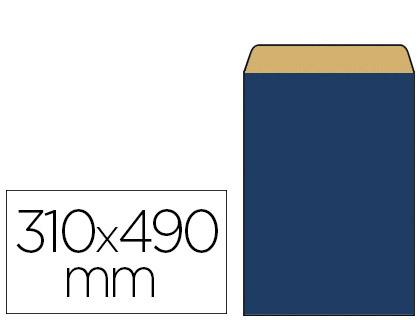 POCHETTE KRAFT BLEU 31X8X49CM