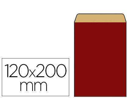POCHETTE KRAFT ROUGE 12X4.5X20CM
