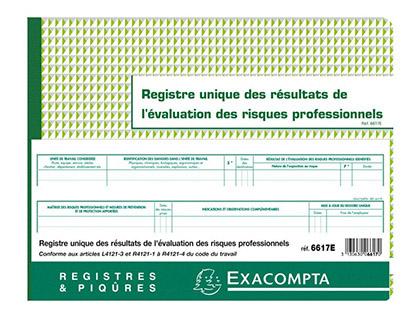 REGISTRE UNIQUE DES RÉSULTATS DE L?ÉVALUATION DES RISQUES PROFESSIONNELS