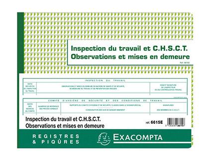 REGISTRE INSPECTION DU TRAVAIL
