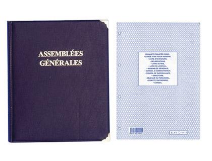 REGISTRE DÉLIBÉRATIONS ASSEMBLÉES GÉNÉRALES