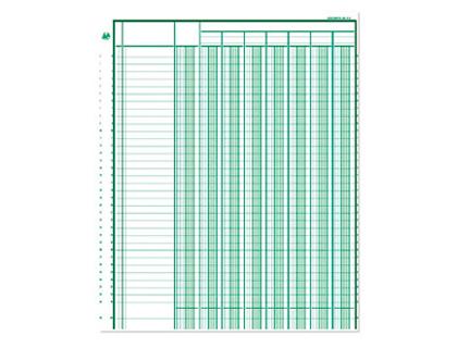 REGISTRE COMPTABLE 4 COLONNES SUR 1 PAGE 32x25cm