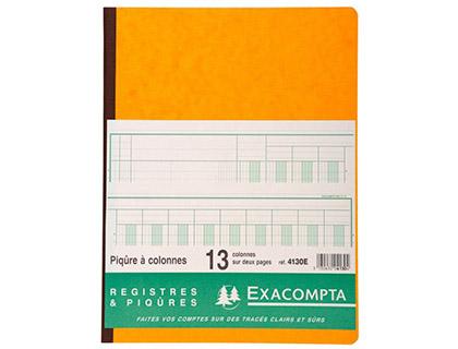 REGISTRE COMPTABLE 13 COLONNES SUR 2 PAGES 32x25cm