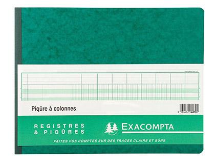 REGISTRE COMPTABLE 20 COLONNES SUR 2 PAGES 32x25cm