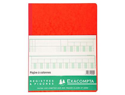 REGISTRE COMPTABLE 18 COLONNES SUR 2 PAGES 32x25cm