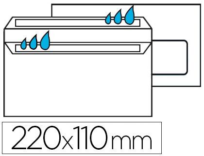 500 ENVELOPPES DL 80g AUTOCOLLANTES AVEC FENÊTRE 35x100mm