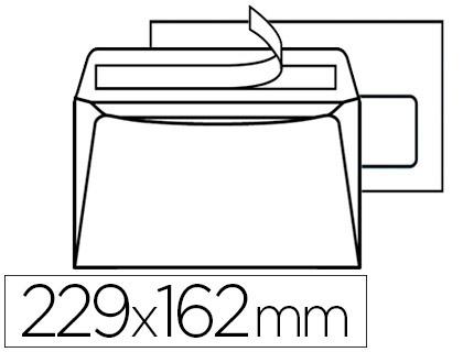 500 ENVELOPPES C5 80g 100% RECYCLÉES ADHÉSIVES AVEC FENÊTRE 45x100mm