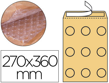 POCHETTE BULLES KRAFT 270x360MM X50