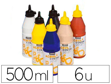 ACRYLCOLOR 6 FLACONS DE 500ml