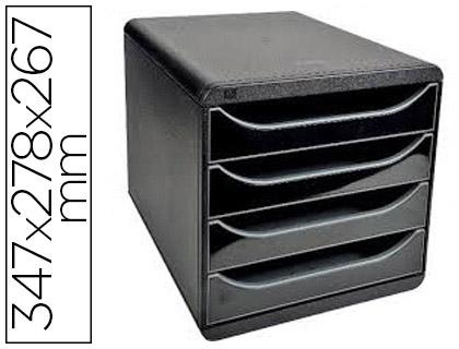 BLOC BIG BOX 4 TIROIRS NOIR/NOIR GLOSSY
