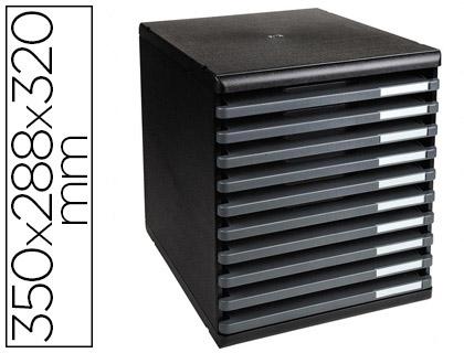 BLOC ECOBLACK 10 TIROIRS NOIR/GRIS SOURIS