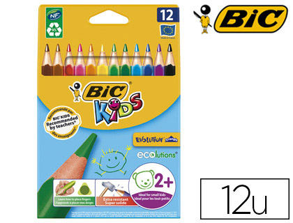 CRAYONS BIC KIDS EVOLUTION TRIANGLE PACK DE 12