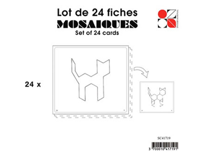 JEU ÉDUCATIF DE CONSTRUCTION MOSAÏQUES SACHET DE 24 FICHES
