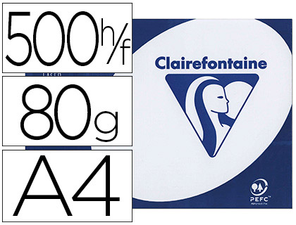 CLAIREFONTAINE CLAIRALFA A4 80G PERFORÉES