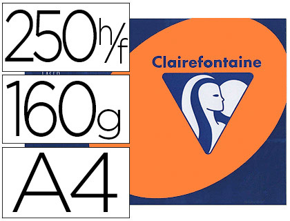 CLAIREFONTAINE TROPHÉE ORANGE VIF A4 160G