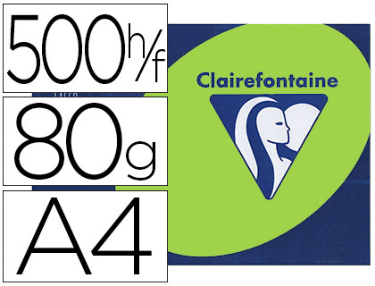 CLAIREFONTAINE TROPHÉE FLUORESCENT VERT A4 80G