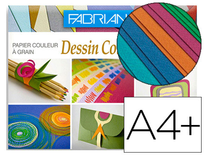 DESSIN COULEUR A4+ 160G ASSORTIS VIVES PACK DE 12