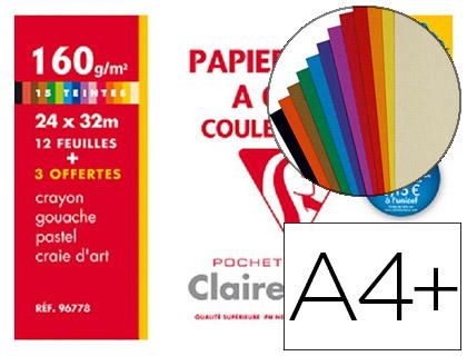 DESSIN COULEUR A4+ 160G ASSORTIS VIVES PACK DE 12