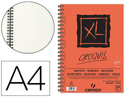 BLOC CROQUIS XL A4 120 FEUILLES
