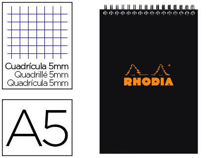 BLOC CLASSIC NOIR A5 RÉGLURE 5x5