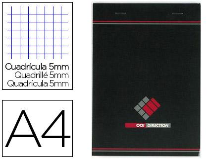 BLOC AGRAFÉ DIRECTION A4 RÉGLURE 5x5