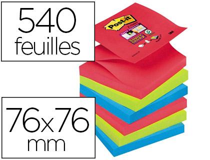 Z-NOTES BORA-BORA SUPER STICKY 76X76MM PACK DE 6