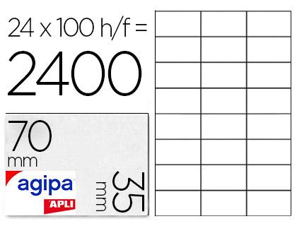 AGIPA ÉTIQUETTES COINS DROITS 70X35MM