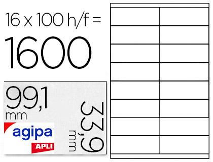 AGIPA ÉTIQUETTES COINS ARRONDIS 99.1X33.9MM