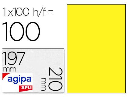 AGIPA ÉTIQUETTES FLUO JAUNES 210X297MM