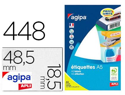 ÉTIQUETTES EN ÉTUI A5 48.5X18.5MM