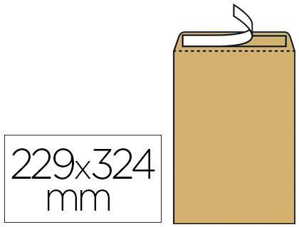 250 POCHETTES KRAFT AUTOCOLLANTE C4