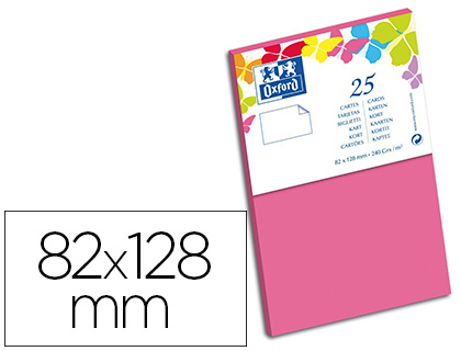 CARTES 82X128MM ROSE