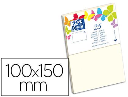 CARTES 100X150MM VANILLE