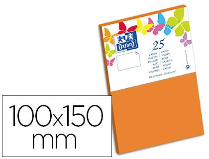 CARTES 100X150MM ORANGE