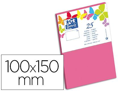 CARTES 100X150MM ROSE